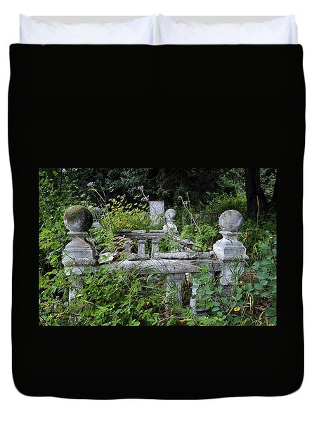 Duvet Cover featuring the photograph Abandoned Cemetery 2 by Cathy Mahnke