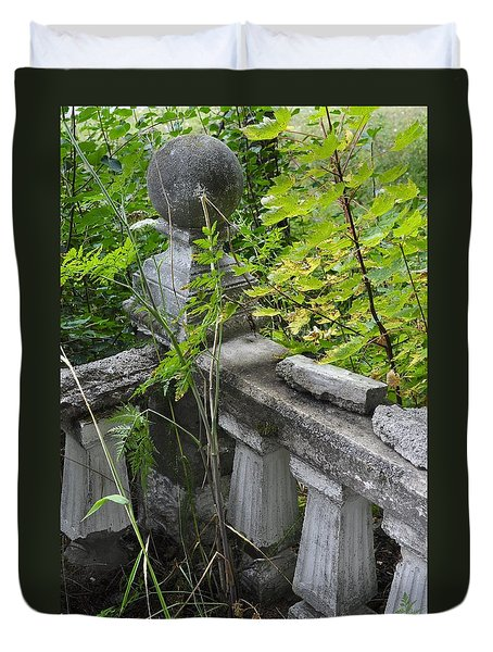 Duvet Cover featuring the photograph Abandoned Cemetery by Cathy Mahnke