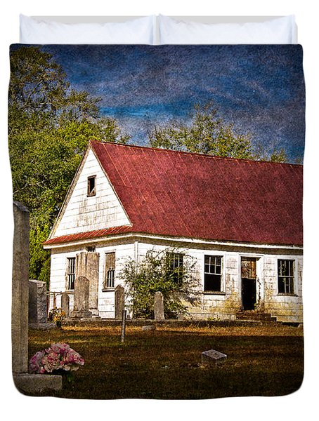 Abandoned Church And Graves Duvet Cover