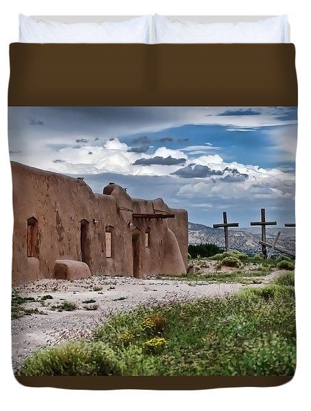 Abandoned Church In Abiquiu New Mexico Duvet Cover