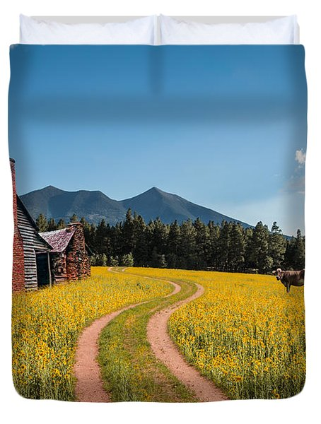 Abandoned Country Life Duvet Cover by Fred Larson