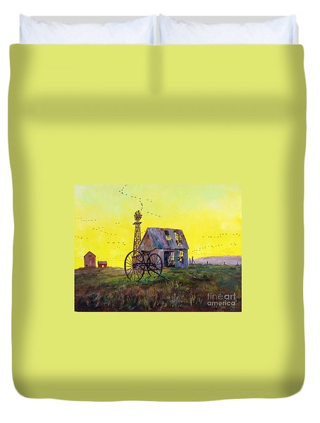 Abandoned  Farm Duvet Cover by Lee Piper
