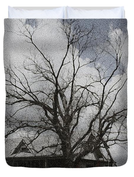 Abandoned House Duvet Cover by Donna G Smith