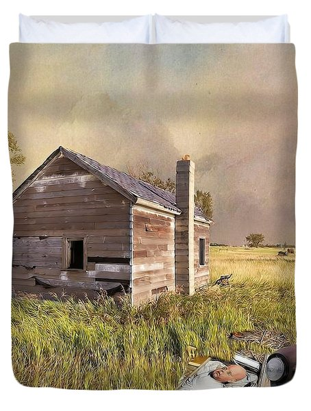 Abandoned Duvet Cover by Liane Wright