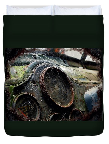 Duvet Cover featuring the photograph Abandoned by Micki Findlay