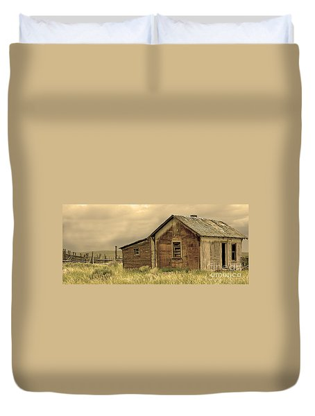 Duvet Cover featuring the photograph Abandoned by Nick  Boren