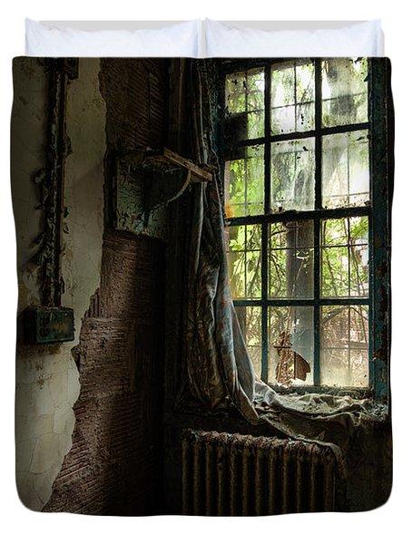 Abandoned - Old Room - Draped Duvet Cover