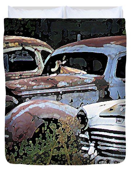 Abandoned Row Duvet Cover