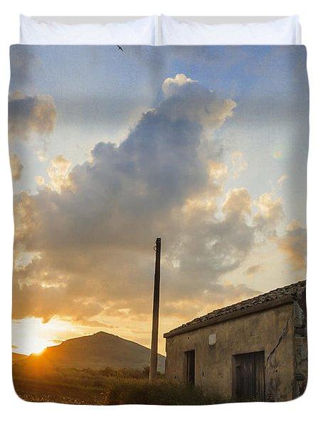 Abandoned Warehouse Duvet Cover