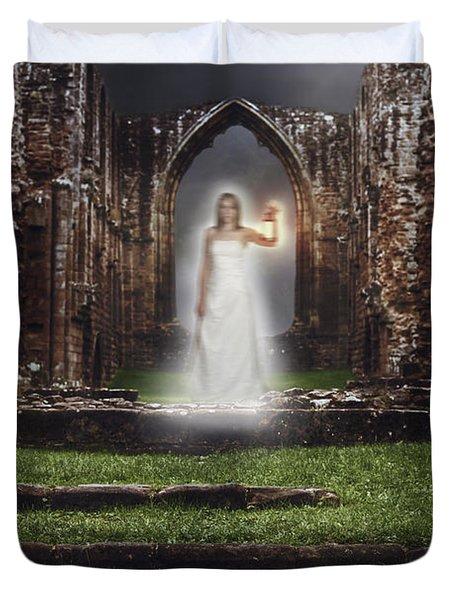 Abbey Ghost Duvet Cover by Amanda Elwell