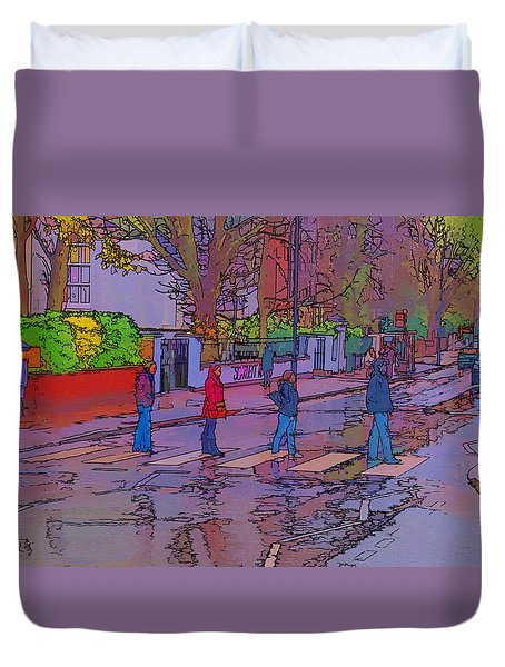 Abbey Road Crossing Duvet Cover by Chris Thaxter