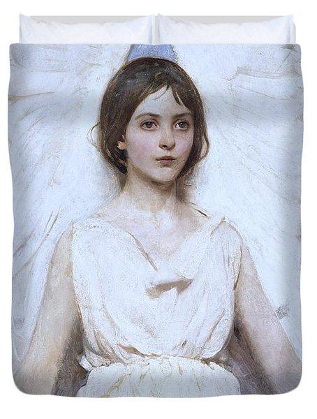 Abbott Handerson Thayer Angel 1886 Duvet Cover