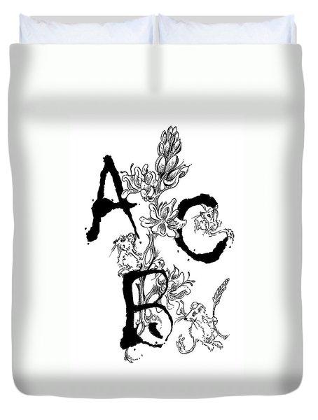 A B C  Duvet Cover