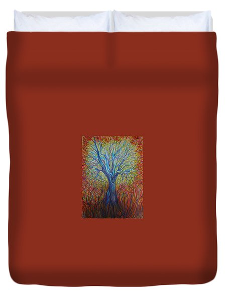 Abc Of Autumn Duvet Cover