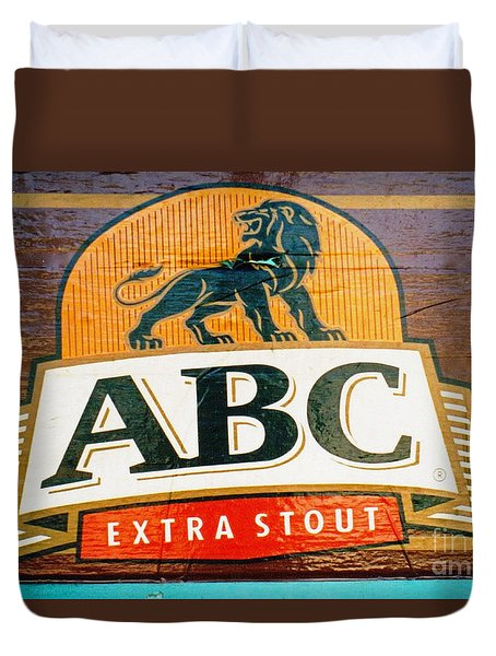 Duvet Cover featuring the photograph Abc Stout by Ethna Gillespie