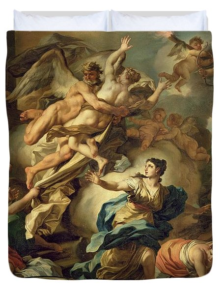 Abduction Of Orithyia Duvet Cover by Francesco Solimen