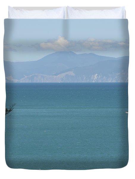 Abel Tasman Split Apple Bay New Zealand Duvet Cover