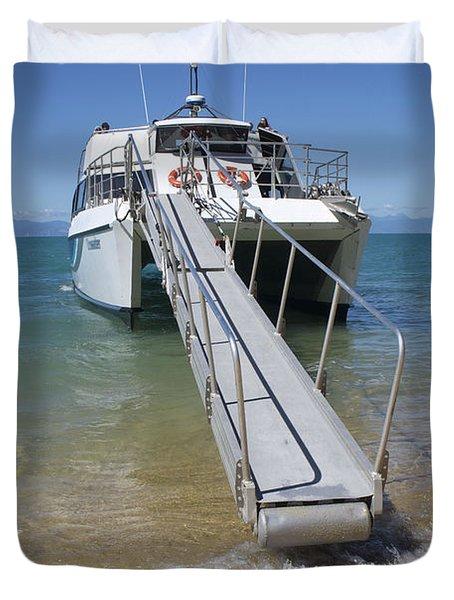 Abel Tasman Water Taxi Duvet Cover