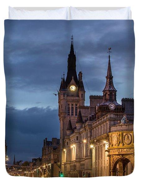 Aberdeen At Night Duvet Cover