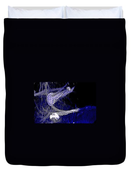 Duvet Cover featuring the photograph Aberration Of Jelly Fish In Rhapsody Series 4 by Antonia Citrino