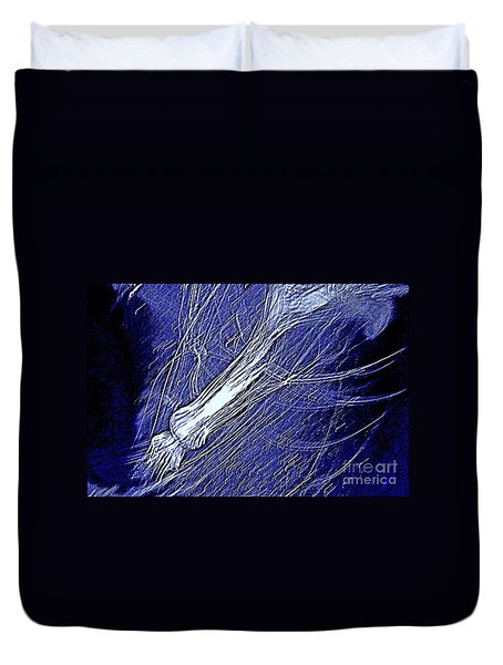 Duvet Cover featuring the photograph Aberration Of Jelly Fish In Rhapsody Series 5 by Antonia Citrino