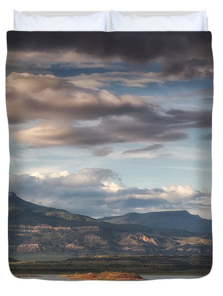 Abiquiu New Mexico Pico Pedernal In The Morning Duvet Cover