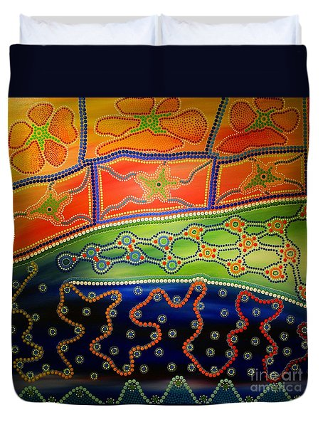 Original Sold Aboriginal Inspirations 7 Duvet Cover
