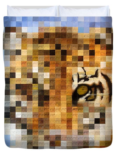 About 400 Sumatran Tigers Acrylic On Paper Duvet Cover