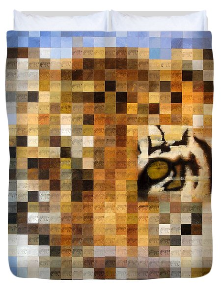 About 400 Sumatran Tigers Duvet Cover