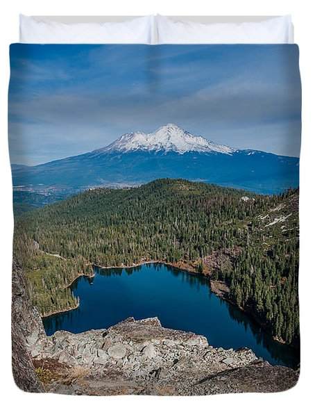 Above Castle Lake 1 Duvet Cover