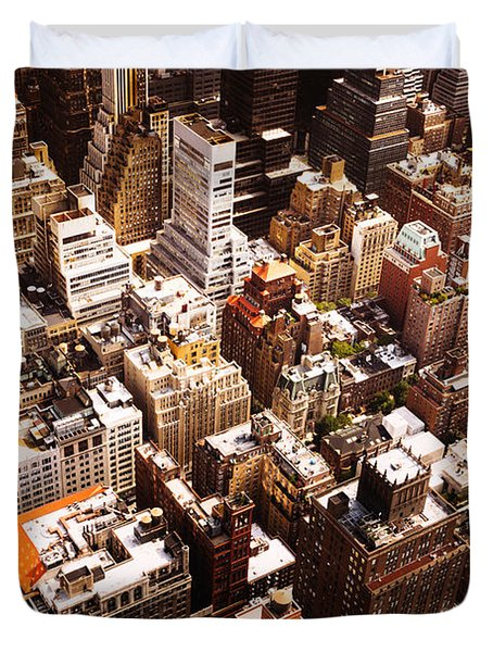 Above New York City Duvet Cover by Vivienne Gucwa