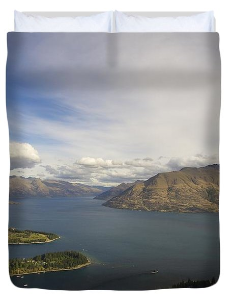 Above Queenstown #2 Duvet Cover