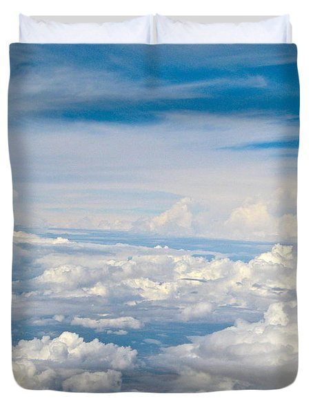 Above The Clouds Over Texas Image B Duvet Cover