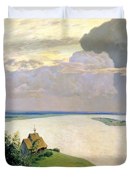 Above The Eternal Peace Duvet Cover by Isaak Ilyich Levitan