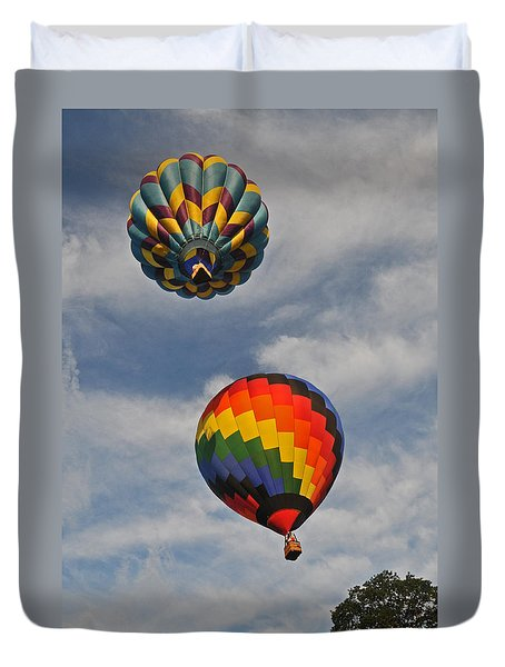 Above The Treetop Duvet Cover by Mike Martin