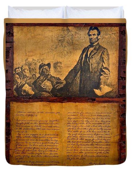 Abraham Lincoln The Gettysburg Address Duvet Cover