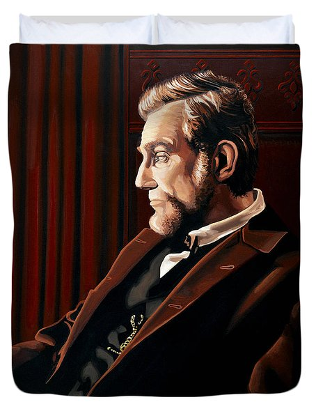 Abraham Lincoln By Daniel Day-lewis Duvet Cover