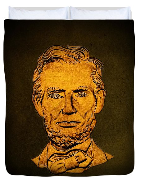 Abraham Lincoln  Duvet Cover by David Dehner