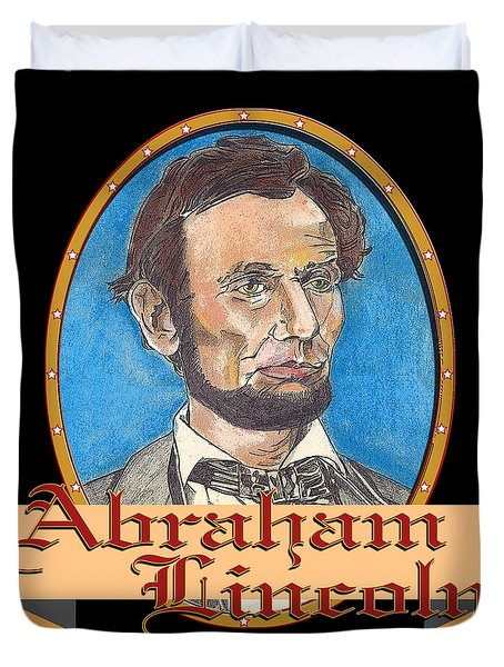 Abraham Lincoln Graphic Duvet Cover by John Keaton