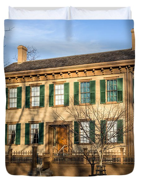 Abraham Lincoln Home In Springfield Illinois Duvet Cover by Paul Velgos