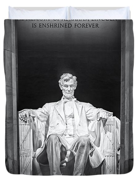 Duvet Cover featuring the photograph Abraham Lincoln Memorial by Susan Candelario