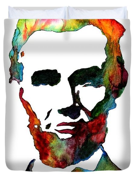 Abraham Lincoln Original Watercolor  Duvet Cover
