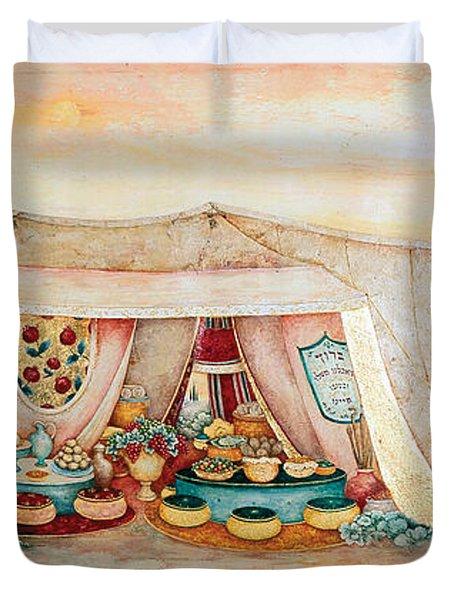 Abraham's Tent Duvet Cover by Michoel Muchnik