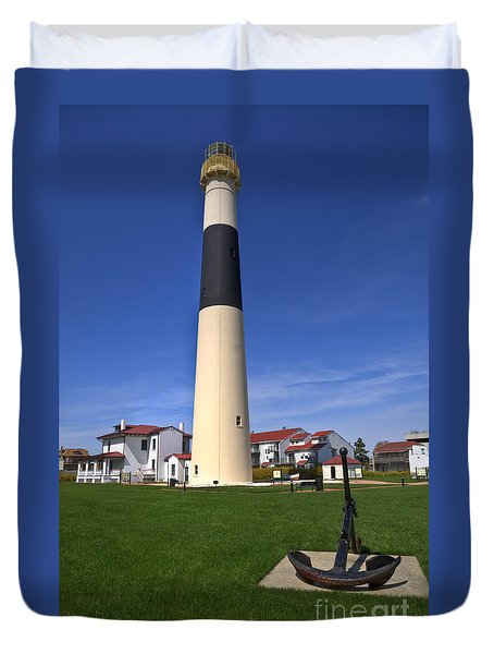 Absecon Lighthouse Duvet Cover by Anthony Sacco