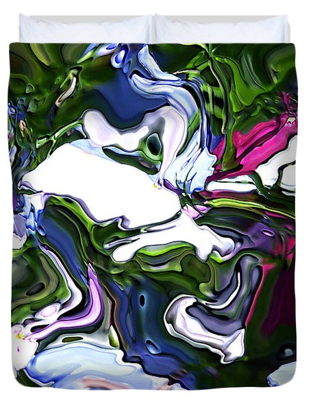 Duvet Cover featuring the digital art Absent by Richard Thomas