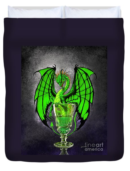 Absinthe Dragon Duvet Cover by Stanley Morrison