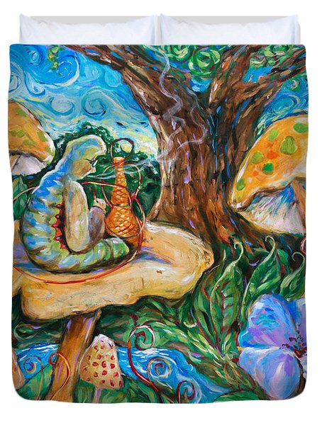 Absolem From Wonderland Duvet Cover
