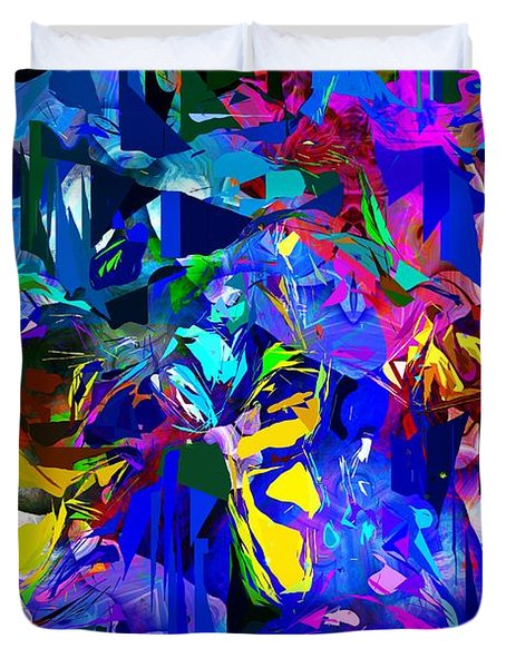 Abstract 010215 Duvet Cover by David Lane