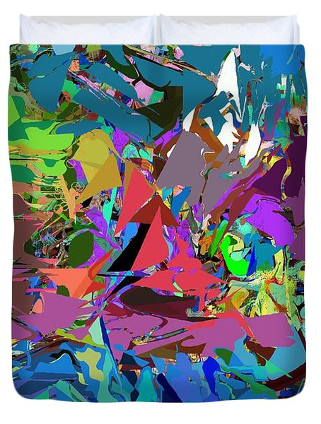 Duvet Cover featuring the digital art Abstract 011515 by David Lane