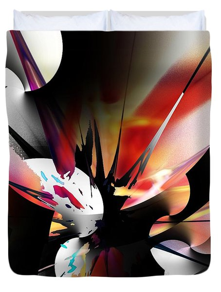 Duvet Cover featuring the digital art Abstract 082214 by David Lane